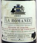 ラ・ロマネ 1987年 750ml ブシャール・ペール・エ・フィス