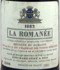 ラ・ロマネ 1982年 750ml ブシャール・ペール・エ・フィス