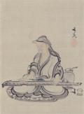 谷文晁 弾琴図