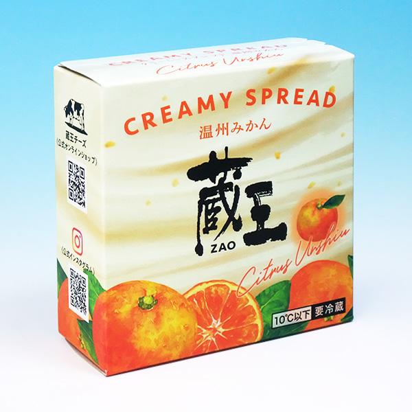 蔵王チーズ クリーミースプレッド・温州みかん 120g