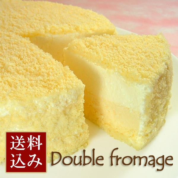 【送料込み】パティシエ山口's ドゥーブルフロマージュ〔ダブルチーズケーキ〕4号