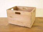 シェルフボックス / 木箱 収納 ボックス スタッキング ワイン箱 りんご箱 A4サイズ アンティーク おもちゃ箱 A4クリアホルダー カントリー 北欧