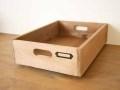 ドローワーボックス / 木箱 収納 スタッキング ボックス アンティーク A4クリアホルダー カントリー 書類箱 北欧