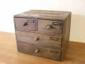 ミニチェスト3段 / 送料無料 収納 書類棚 整理棚 木製 チェスト A4クリアホルダー ボックス アンティーク カントリー 北欧 レトロ