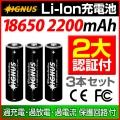 【Bonds&Bonfires】【IGNUS (イグナス)シリーズ】専用リチウムイオンバッテリー 2200mAh 3本セット
