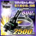 LED ヘッドライト LEDライト MAX2500LM(ルーメン)1灯LED 照射距離800メートル HL-001 CREE社 THE WORLDヘッドライト fl-head-001