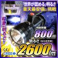 懐中電灯 LED懐中電灯 LEDライト 2600lm相当 ハンディライト FL-040 THE WORLDライト 世界の軍事用ライト fl-s009 【電池・充電器セット】