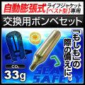 交換用ボンベセット 自動膨張式 ライフジャケット ベストタイプ用 33gガスボンベ<対応製品:klj-va>