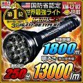 懐中電灯 LED懐中電灯 LEDライト 13000lm相当 ハンディライト IG-T12-08:TYPE U2 IGNUS イグナス 最強無比 fl-ig003 【電池・充電器セット】