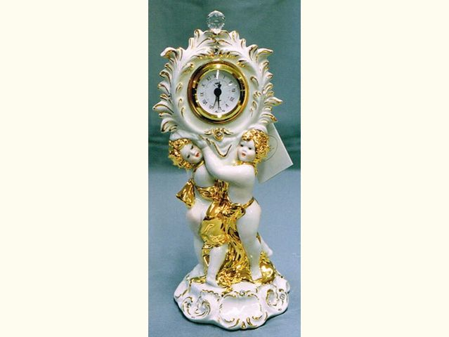 イタリアセラミック天使時計 ダブルエンジェル