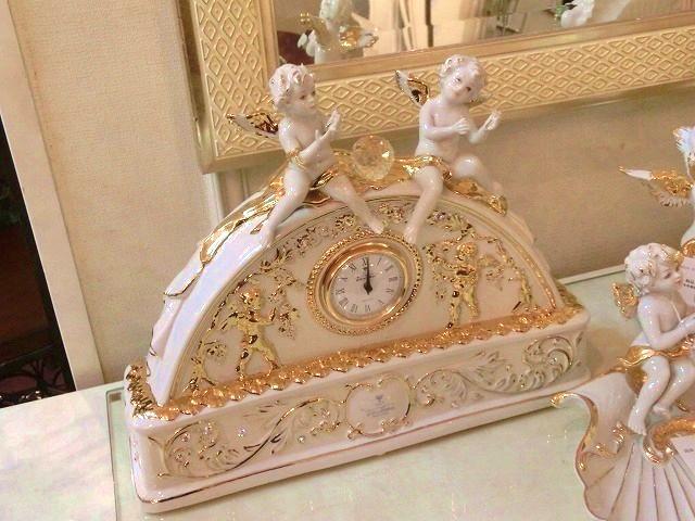 イタリア セラミック 天使の時計