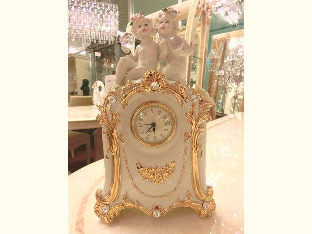 可愛い天使の時計 イタリア陶器