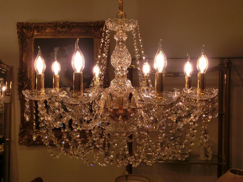 オリジナルクリスタル8灯シャンデリア