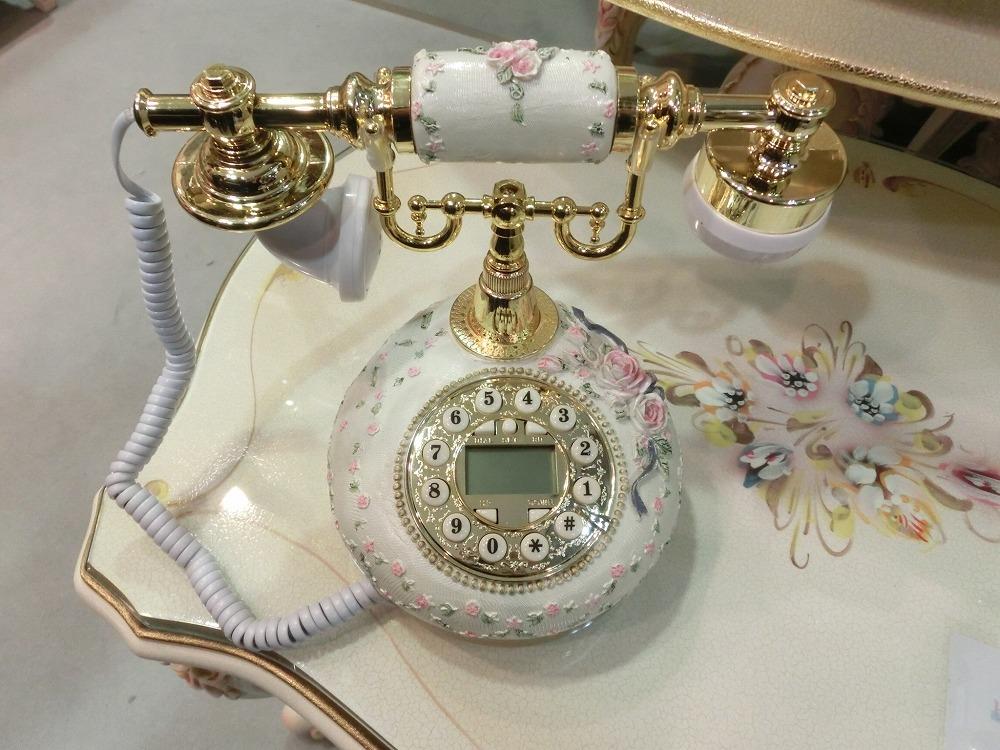 ロココ調 バラの電話機