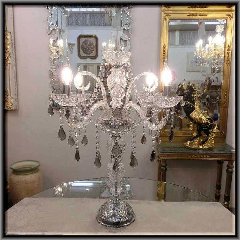 クリスタルテーブルランプ4灯