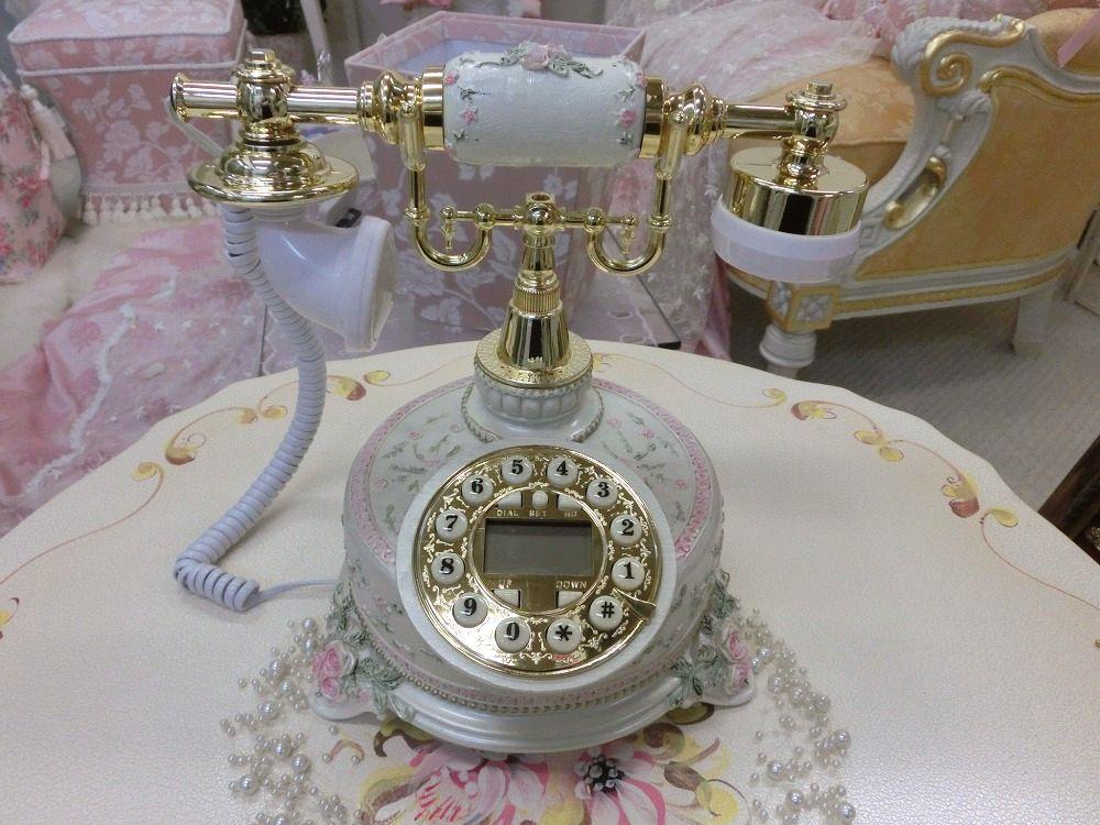 素敵な薔薇の電話機