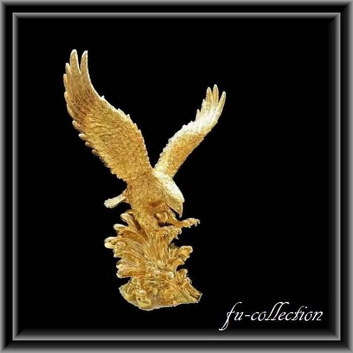 アニマルオブジェ ゴールドイーグル 鷲の置物 ver2  送料無料
