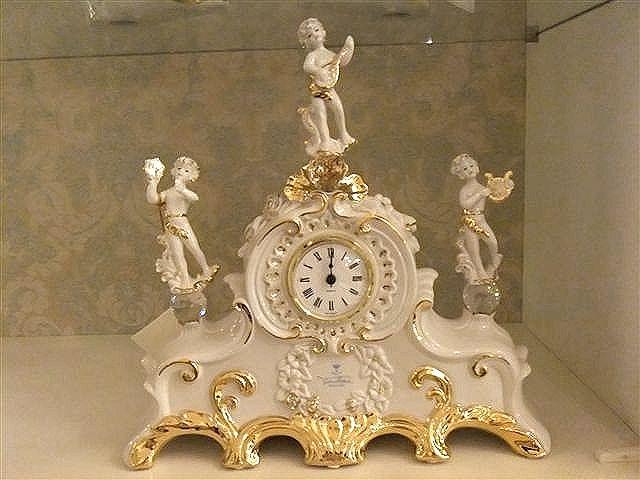 イタリア製 天使楽隊 置き時計