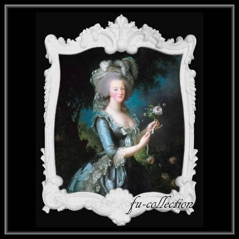 限定品 ヨーロッパ名画 マリーアントワネット額絵 ホワイトロココフレーム 80×110   キャンバス  103 軽量  送料無料