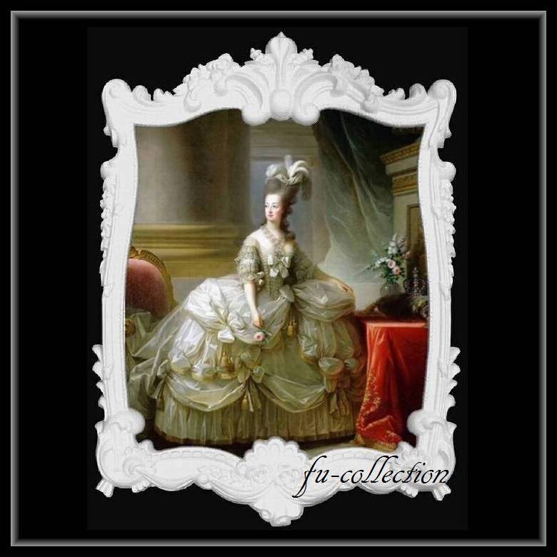 限定品 ヨーロッパ名画 マリーアントワネット額絵 ホワイトロココフレーム 80×110   キャンバス 379-1  軽量  送料無料