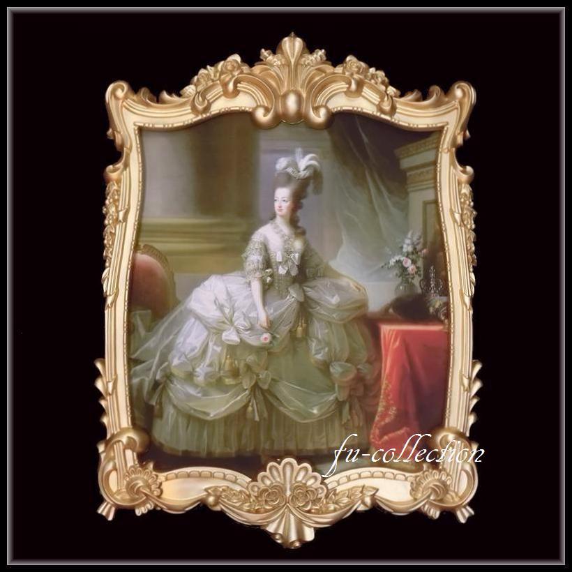限定品 ヨーロッパ名画 マリーアントワネット額絵 ゴールドロココフレーム 80×110   キャンバス 379-1  軽量  送料無料