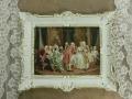 即納 ヨーロッパ名画 イタリアロココフレーム コットンキャンバス アクリル付 56×46 0274  送料無料