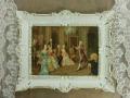 即納 ヨーロッパ名画 イタリアロココフレーム コットンキャンバス アクリル付 56×46 0392  送料無料