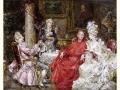ヨーロッパ絵画 貴族・貴婦人 691L 98×78  ロココ額絵  送料無料