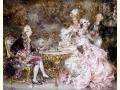 ヨーロッパ絵画 貴族・貴婦人 692L 98×78  ロココ額絵  送料無料