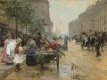 ヨーロッパ絵画 貴族・貴婦人 741L 98×78  ロココ額絵  送料無料