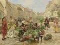 ヨーロッパ絵画 貴族・貴婦人 742L 98×78  ロココ額絵  送料無料