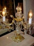 イタリア製シャンデリア型テーブルランプ