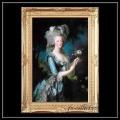 ヨーロッパ名画 マリーアントワネット キャンバス印刷複製画 アクリル付 ゴールド大型フレーム 83×113  0103  送料無料