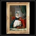 ヨーロッパ名画 マリーアントワネット キャンバス印刷複製画 アクリル付 ゴールド大型フレーム 83×113  0105  送料無料