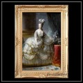 ヨーロッパ名画 マリーアントワネット キャンバス印刷複製画 アクリル付 ゴールド大型フレーム 83×113  0379  送料無料