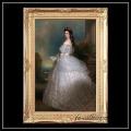 ヨーロッパ名画 「オーストリア皇妃エリザベート」 キャンバス印刷複製画 アクリル付 ゴールド大型フレーム 83×113  eliz2n  送料無料