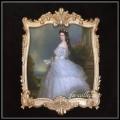 限定品 ヨーロッパ名画 エリザベート額絵 ゴールドロココフレーム 80×110   キャンバス 軽量  送料無料