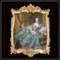 限定品 ヨーロッパ名画 ポンパドール夫人額絵 ゴールドロココフレーム 80×110   キャンバス 軽量  送料無料