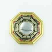 金の縁取り銅板八卦鏡