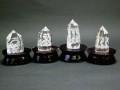 四神水晶彫刻置物セット(台座付)
