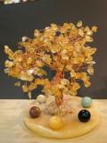 七星陣付黄水晶の樹(大)