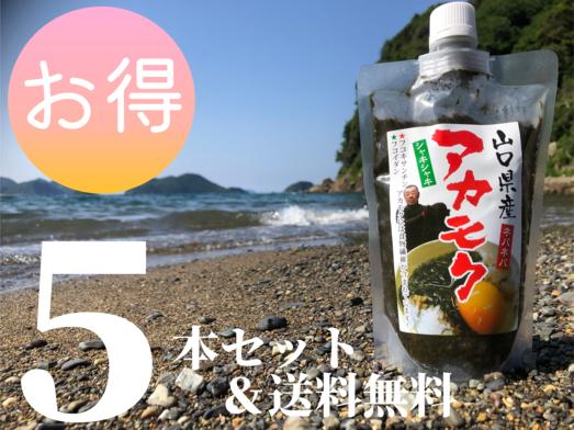 【送料無料】アカモク スタンドパック 280g×5本
