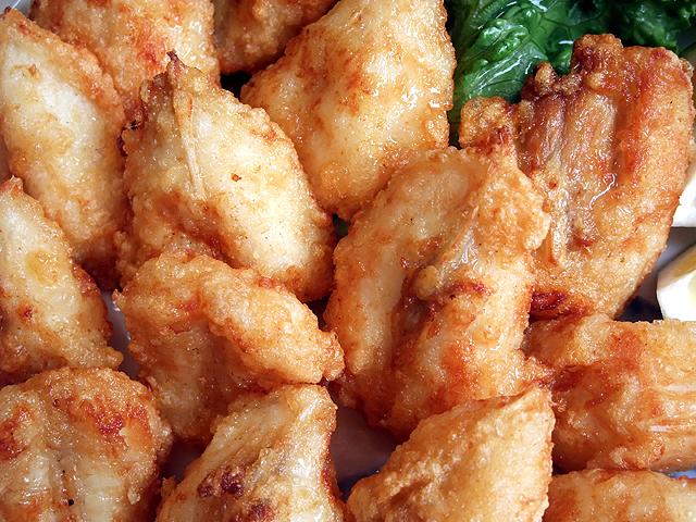 味付きです。解凍(または半解凍)で揚げるだけ!冷めても美味しいですが、やっぱり揚げたてが一番です