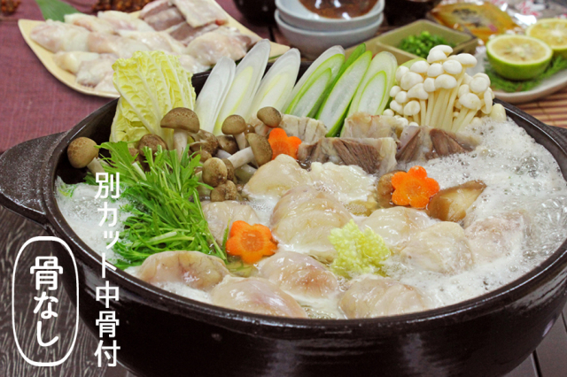 【10%OFF】[送料無料] 真ふぐちり鍋用500g (骨なし・別カット中骨付き)