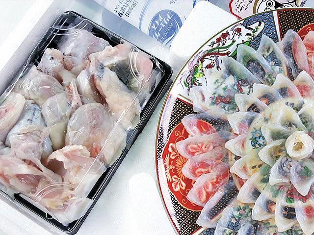 下関市南泊市場で競られた国産本とらふぐを、自社工場で加工、お届けいたします