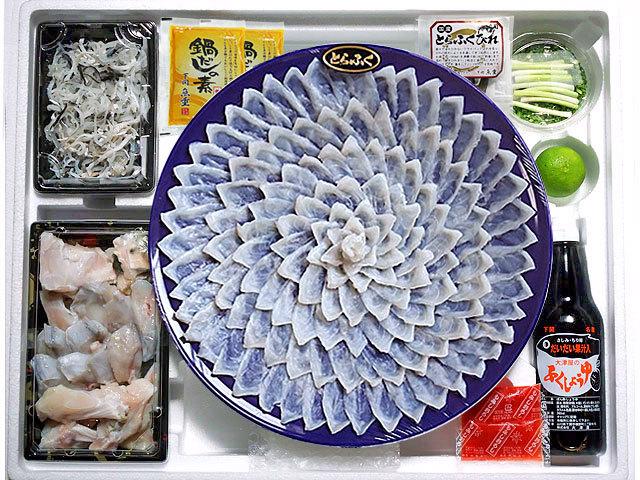 とらふぐ刺身・ちりセット5~6人前皿(高台付きプラスチック皿)