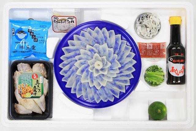 下関ふぐの魚重 とらふぐの刺身(2~3人前)に、ふぐの唐揚が付いた便利でお得なセット