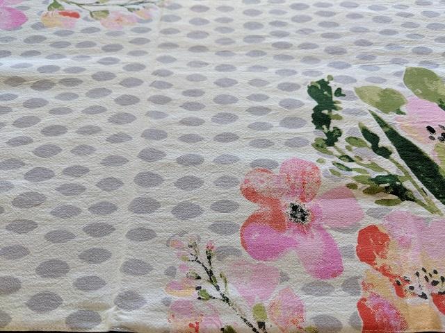 花柄ドットテーブルランナー