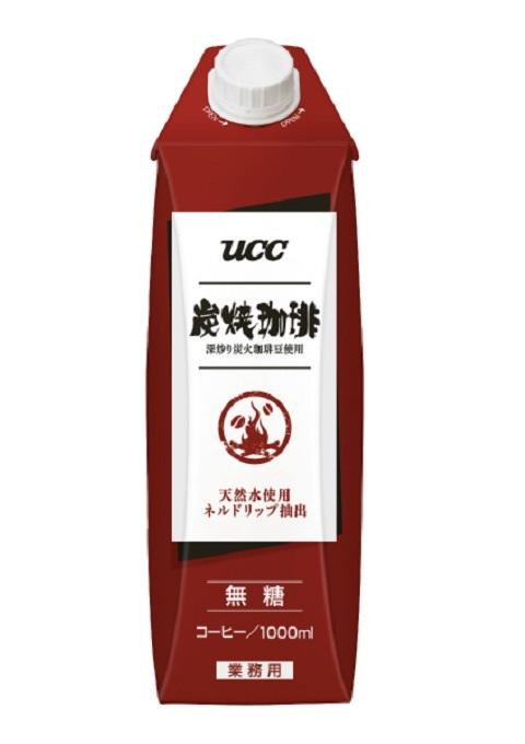 UCC 炭焼珈琲 無糖 1000mlX12本