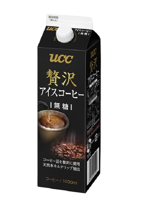 UCC 贅沢アイスコーヒー業務用 無糖 1000mlX12本